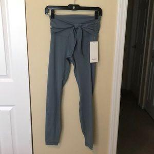 Lululemon blue Align pant w/ wrap waist sz6 NWT